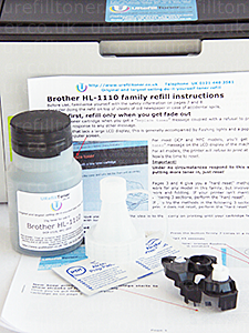 Brother HL-1110 toner refill kit